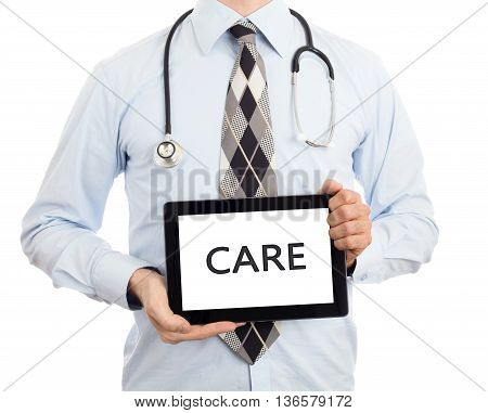Doctor Holding Tablet - Care