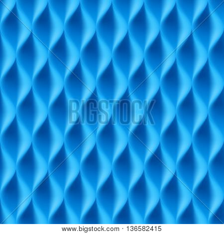 Vertical Wavy Seamless Pattern. Blue Color Background