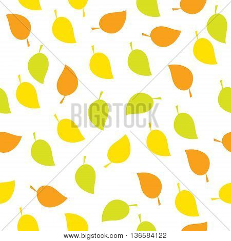 The seamless pattern with a autumn leaves