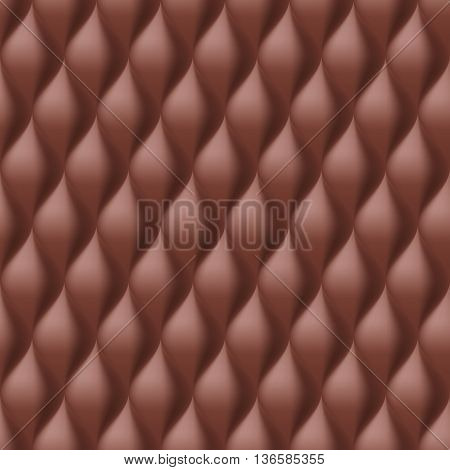 Vertical Convex Wavy Seamless Pattern. Brown Color Background