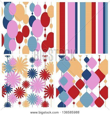 The set of a seamless festive patterns