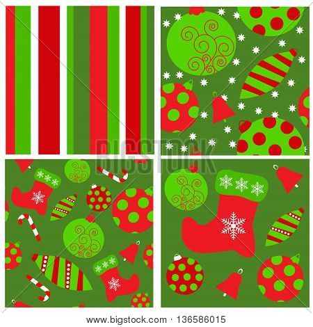 The set of a seamless Christmas patterns