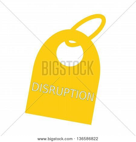 DISRUPTION white wording on background yellow key chain
