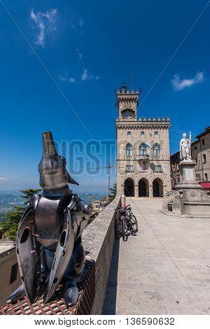 Palazzo Pubblico in San Marino with Arts