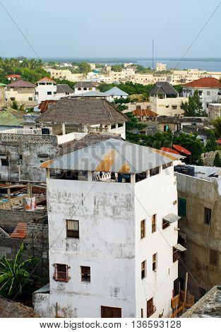 Lamu Town On Lamu Island In Kenya.