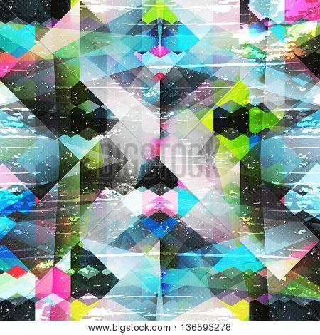 psychedelic color geometric pattern vector illustration abstract high quality