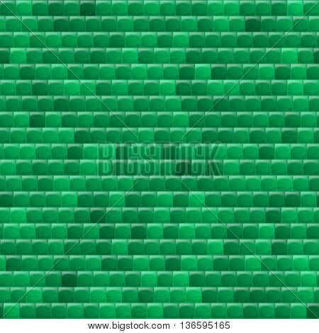 Heterogeneous corrugated surface. Seamless pattern green background