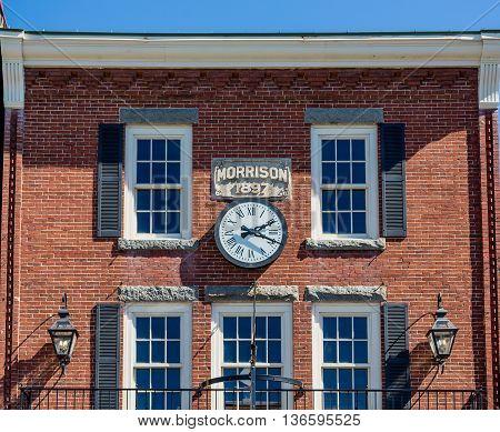 Old Morrison Building in Bar Harbor Maine