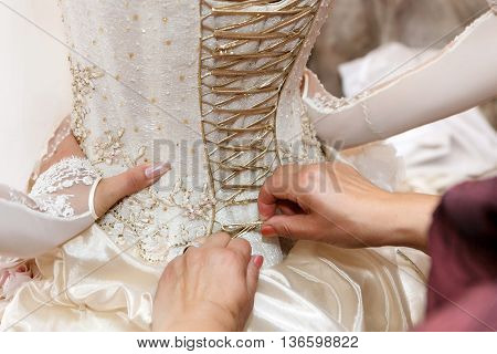 the lacing of the corset bridesmaid dresses