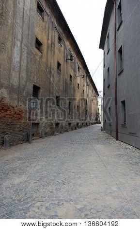Old architecture of beautiful Olomouc. Czech Republic.