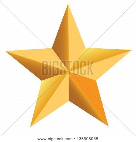 All Star Gold star shape gold colored gold award vector symbol