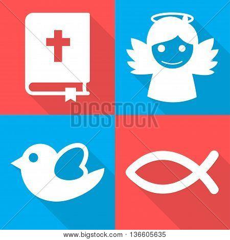 Religious Icons Set Vector Illustration