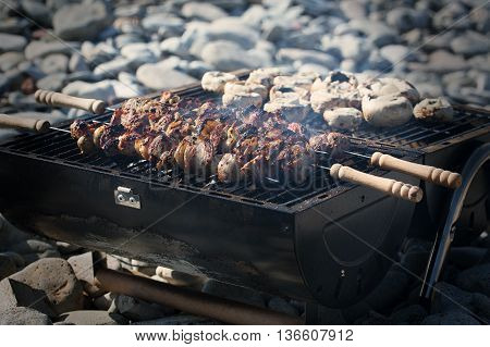 Summer barbeque on a beautiful summers evening
