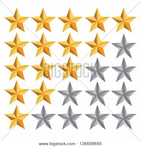 Five star ranking colored symbol yellow voting internet data