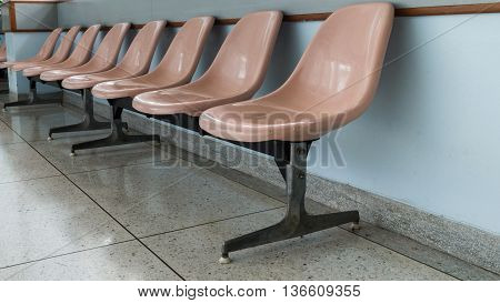 Chairs clean for wait story in hospital
