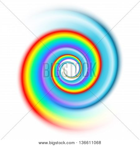 Rainbow spiral pattern spectrum isolated on white background