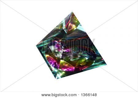 Prism Cut Out On White Background