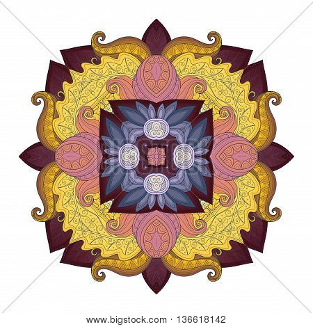 Vector Beautiful Deco Colored Contour Square