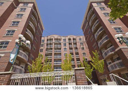 Large apartment complex in Salt Lake city Utah.
