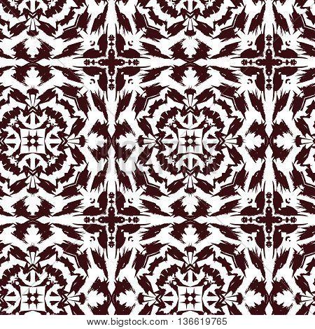 vector pattern ornamets tiger flower spikes decjration reapit tile