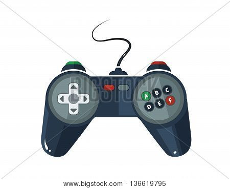 vector picture of gamepad in flat style isolate on white background