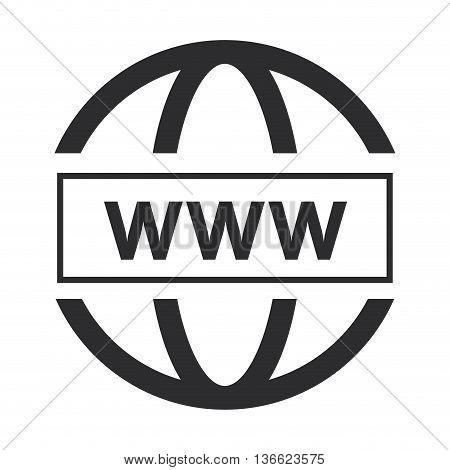 grey simple flat design www icon vector illustration