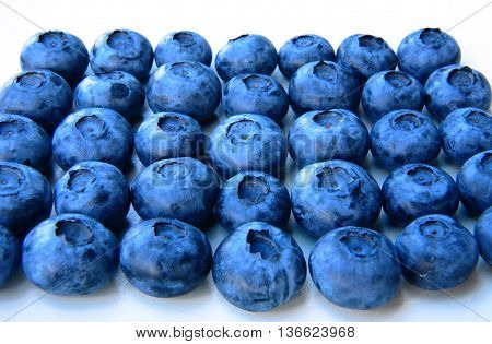Closeup Of A Bunch Of Fresh And Delicate Blueberries