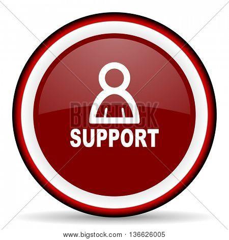 support round glossy icon, modern design web element