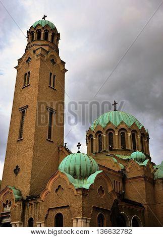 Orthodox cathedral of Veliko Tarnovo town, Bulgaria
