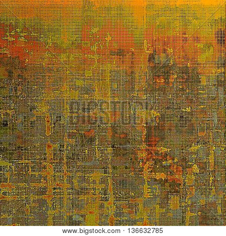 Grunge abstract textured background, aged backdrop with different color patterns: yellow (beige); brown; gray; green; red (orange)