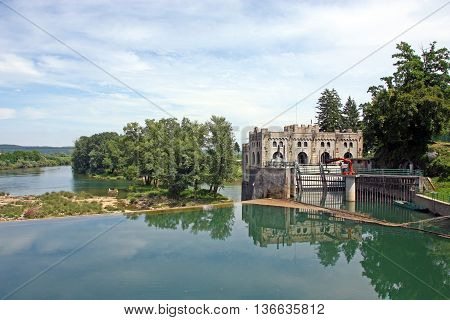 Castle like Hydroelectric power plant Ozalj1 was built in 1908 and is still operational Croatia