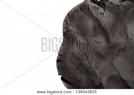 Black plasticine background