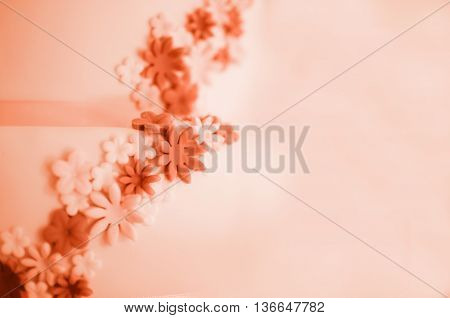 Soft background of flowers made from sugar mastic.