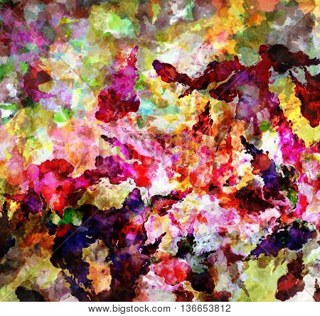 Abstract Chaotic Pattern With Geometric. Paints Trendy Style Patterns. Modern Stylish Texture.