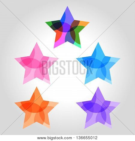 transparent star colors logo vector illustration icon
