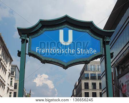 Franzoesische Strasse Subway Station In Berlin