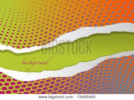 ripped dotted paper - vector