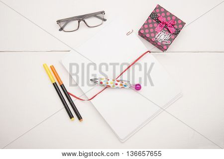 Education objects on white background