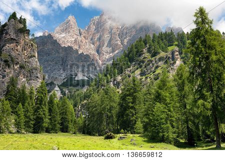The beautiful Scenery from The Dolomites Italy