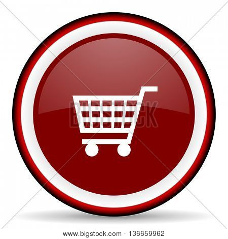cart round glossy icon, modern design web element