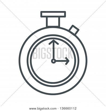 simple line design chronometer line icon vector illustration
