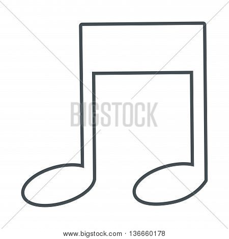 simple flat design eighth music note icon vector illustration
