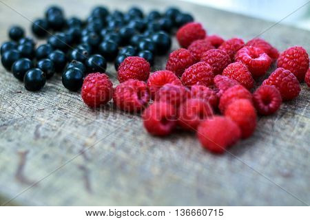 Frozen Berries, Border Food Background, With Copy Space