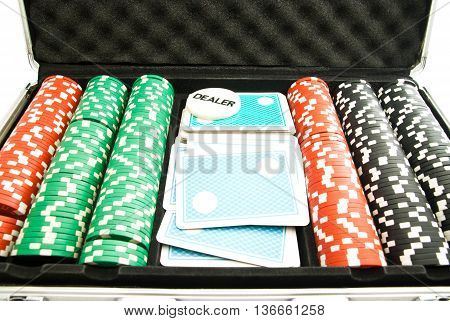 Chips And Cards In The Case