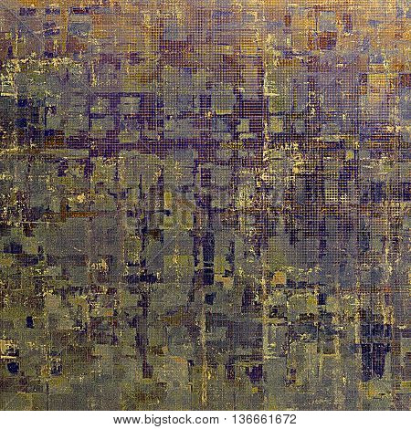 Traditional grunge background, scratched texture with vintage style design and different color patterns: yellow (beige); brown; gray; blue; red (orange); purple (violet)