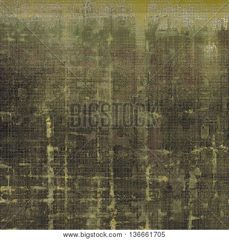 Grunge background with vintage style graphic elements, retro feeling composition and different color patterns: yellow (beige); brown; gray; black; green