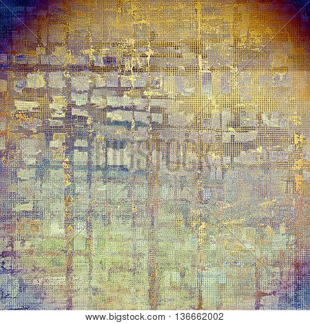 Old vintage backdrop. Original background or aged texture with different color patterns: yellow (beige); brown; gray; blue; red (orange); purple (violet)