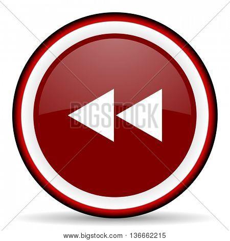 rewind round glossy icon, modern design web element