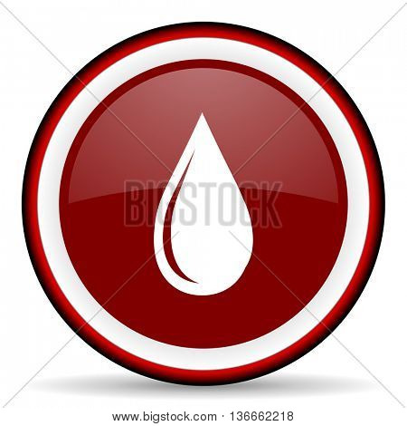 water drop round glossy icon, modern design web element