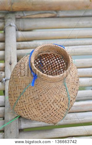 Fish trap basket in the countryside in Vietnam